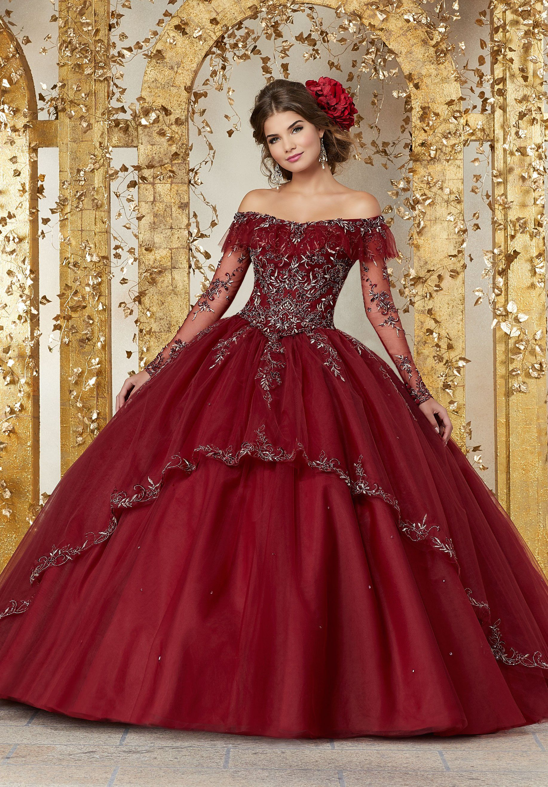 Vizcaya By Mori Lee 89235 Off Shoulder Illusion Long Sleeve Ballgown In 2021 Long Sleeve Quinceanera Dresses Sweet 15 Dresses Pretty Quinceanera Dresses [ 2630 x 1834 Pixel ]
