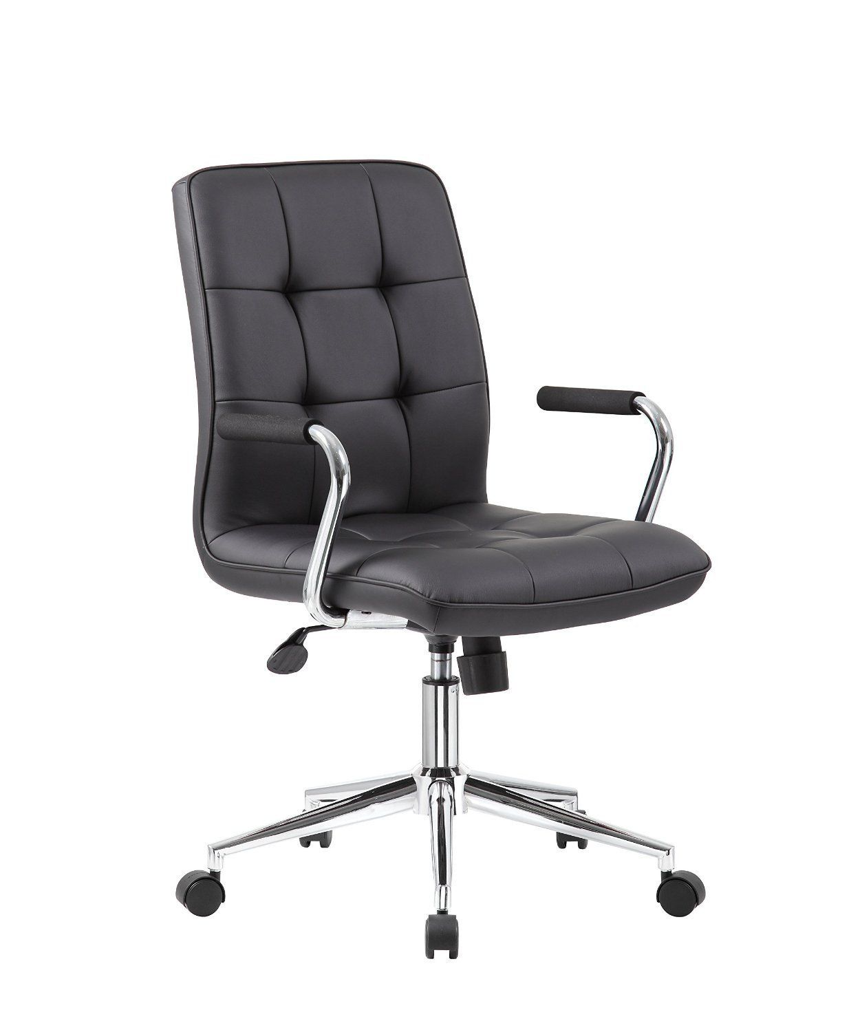 Boss Office Products B331 Bk Modern Office Chair W Chrome Arms