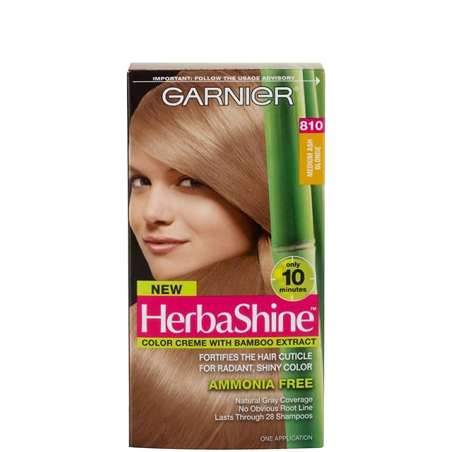 Garnier herba shine hair color creme with bamboo extracts 810 garnier herba shine hair color creme with bamboo extracts 810 medium ash blonde pack of nvjuhfo Image collections