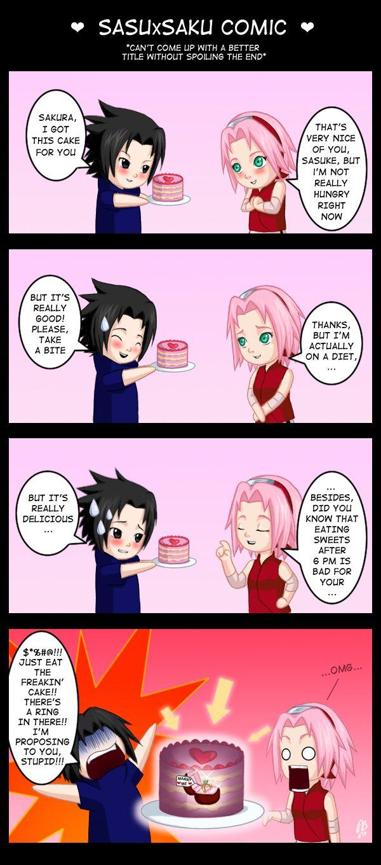 Funny Anime Meme Comics : Not a sasusaku shipper but this is hilarious cool anime
