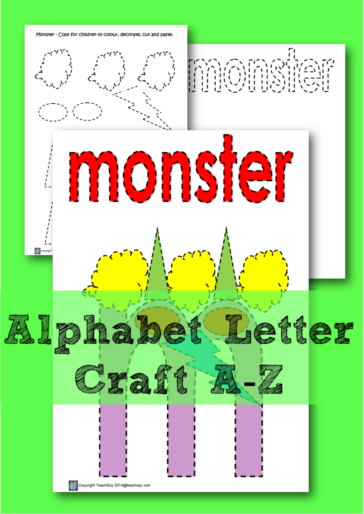 learning the letter m a color cut and paste activity for every letter of the alphabet each letter has a printout ready for each student