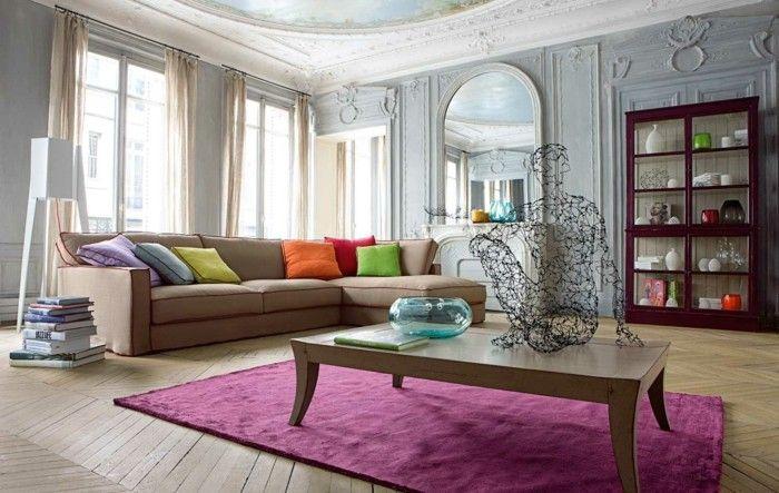 Lila Wohnzimmer Teppich Kaufen Fr Mehr Farbe