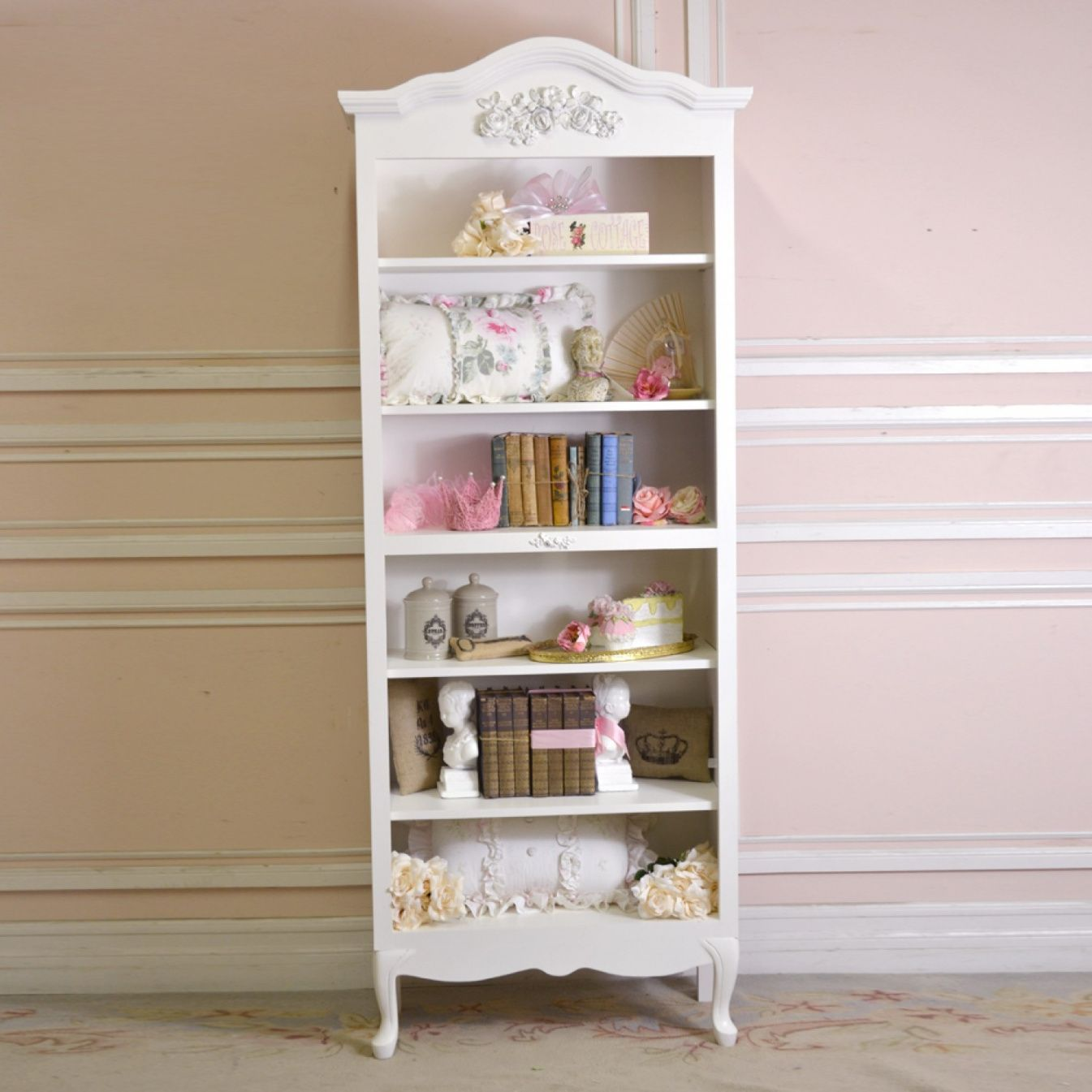 Shabby chic white bookcase luxury home office furniture check more