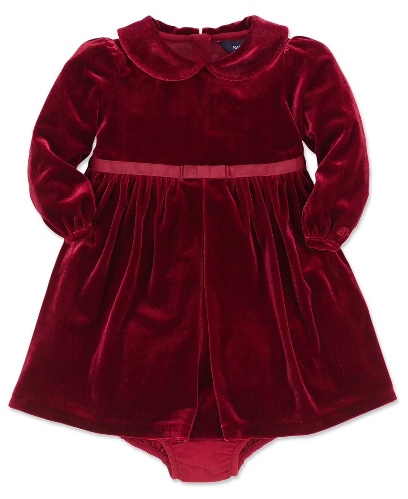Ralph Lauren Baby Girls Dress, Baby Girls Velvet Dress - Kids Girls Dresses - Macys  For