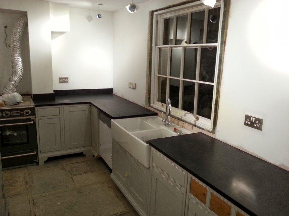 Italian Black Slate And Carrara Worktops Leamington Spa Contemporary Stone Ltd Kitchen Design Work Tops Slate