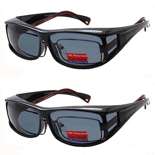 9e1f5ade422b Pink Ribbon Shades 2 Pair Polarized Fit Over Wear Over Prescription Glasses  Lens Cover Sunglasses Pink