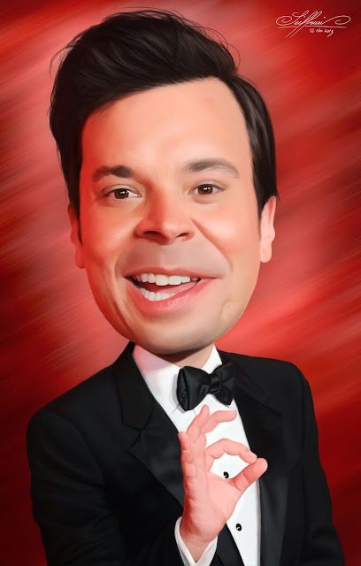 The Art Blog of Ali Seiffouri: Caricature of Jimmy Fallon