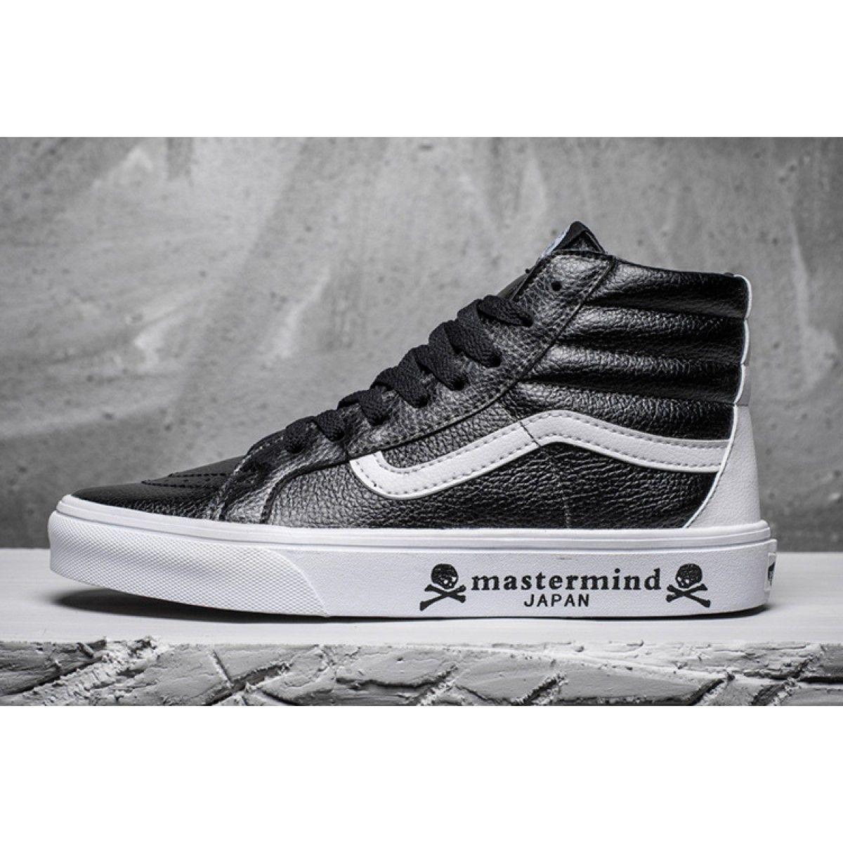 34a19f2828b46a Mastermind Japan x Vans SK8-Hi Black Leather Winter Skate Shoes  Vans