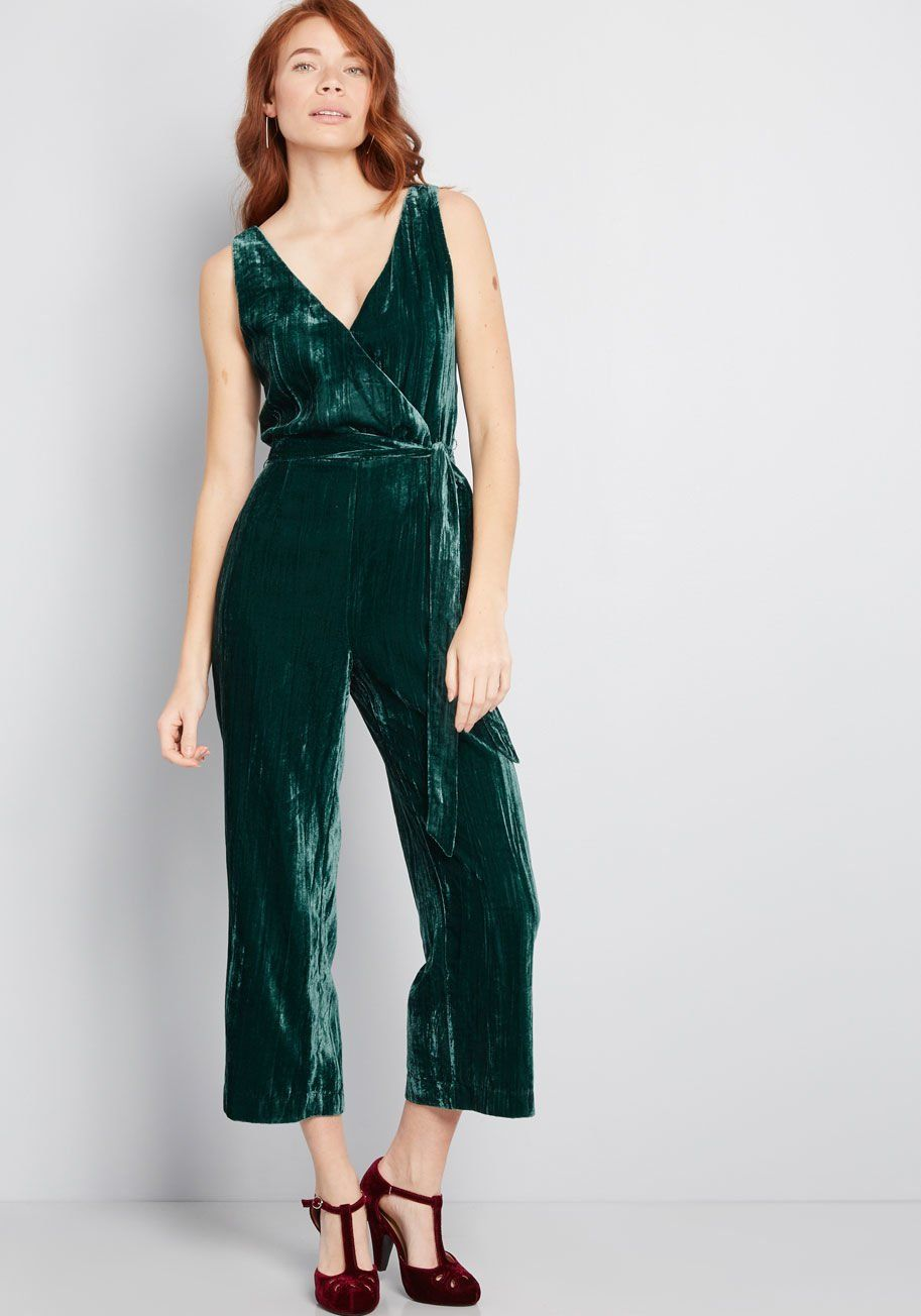 44780002fd34 This crushed velvet jumpsuit from BB Dakota calls upon your confidence when  upcoming invitations are afoot! A simple yet stunning ensemble
