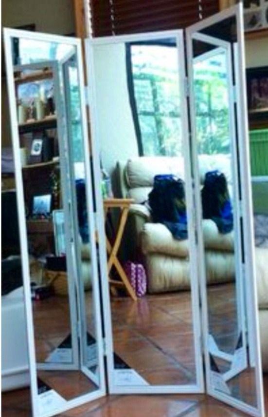 Tri Fold Mirror Love This Diy Room Divider Home Decor Bedroom Diy Full length 3 way mirror
