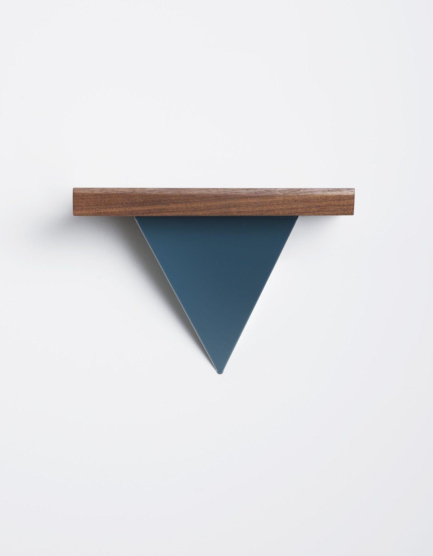 Pyramid Bracket In Teal Tortuga #Shelves #Shelving #Storagesolution #Pyramid #Geometric