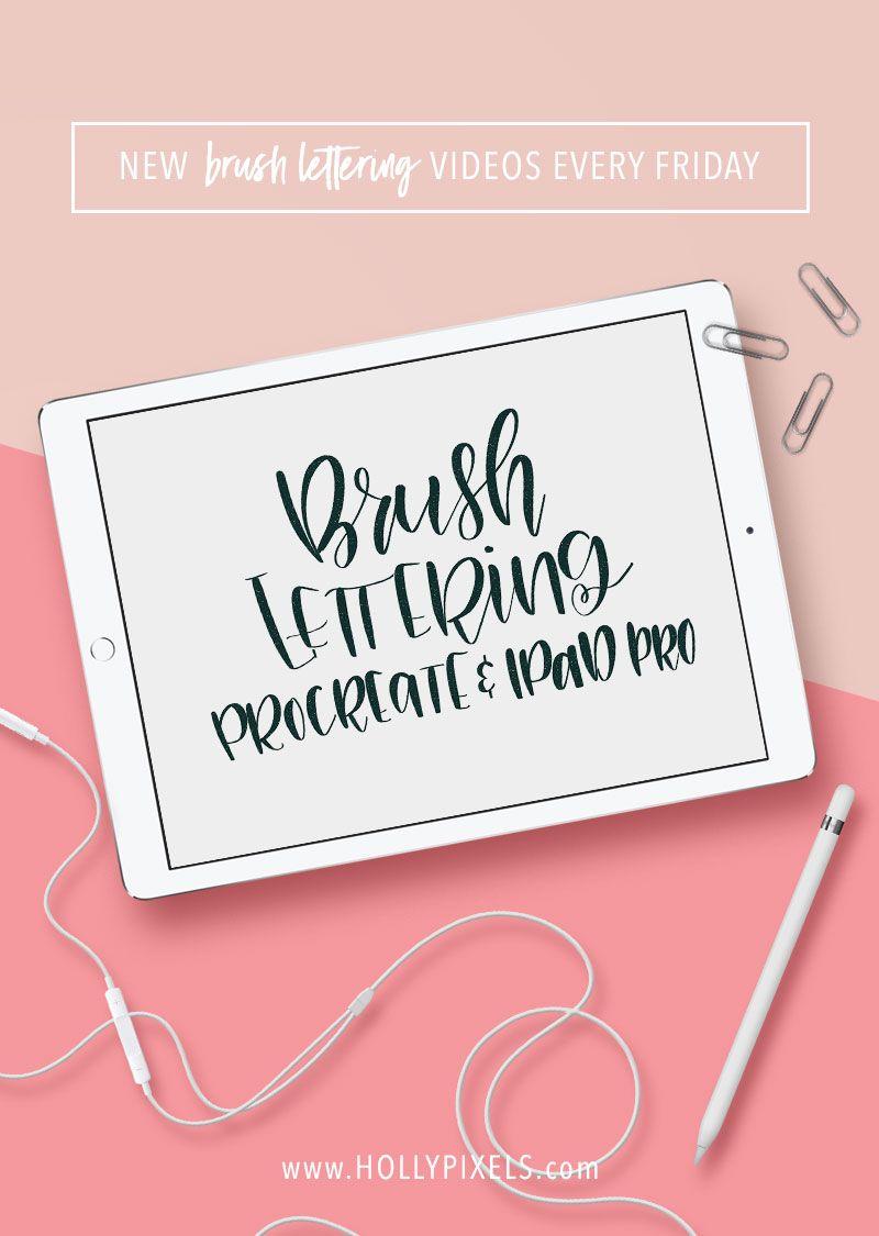 Using Procreate on iPad Pro to Create Brush Lettering