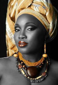 Resultado de imagen de dibujo cara de mujer negra con turbante blanco