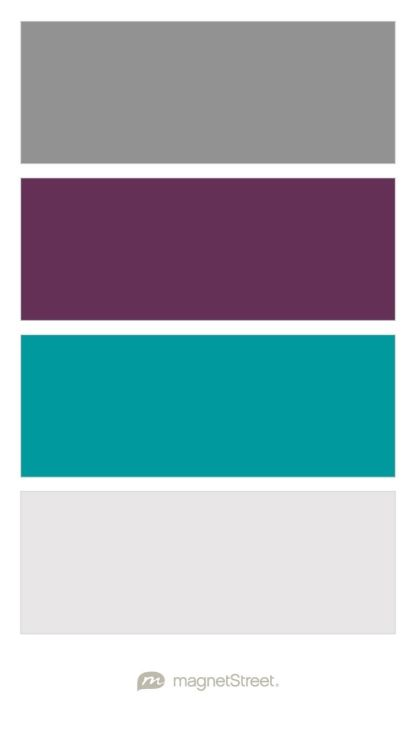 classic gray eggplant teal and winter white wedding color palette custom color palette. Black Bedroom Furniture Sets. Home Design Ideas