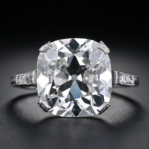 6.48 Carat Antique Cushion Cut Diamond ---yes yes yes yes yes
