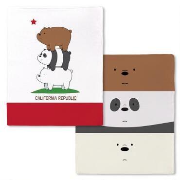 We Bare Bears California Republic Stack Fleece Throw Blanket |