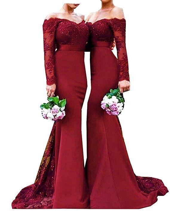Schones Und Bezahlbares Kleid Fur Brautjungfern Und Trauzeugin Perfekt Fur Eine Hochzeit In B Rote Hochzeitskleider Brautjungfern Kleider Spitzen Abendkleider