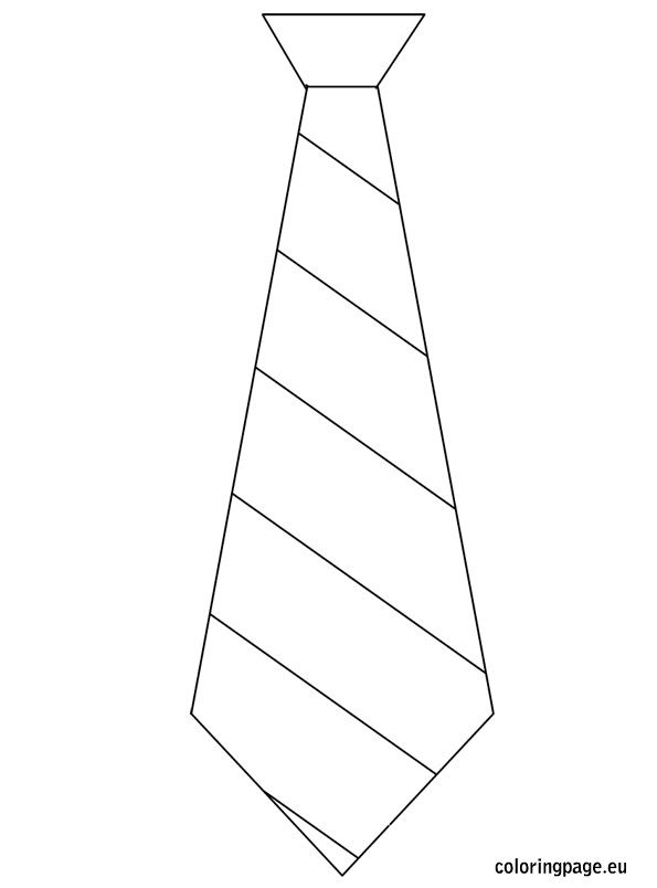 ties coloring pages Father's Day   Template tie | Coloring Page | Daddy's day  ties coloring pages