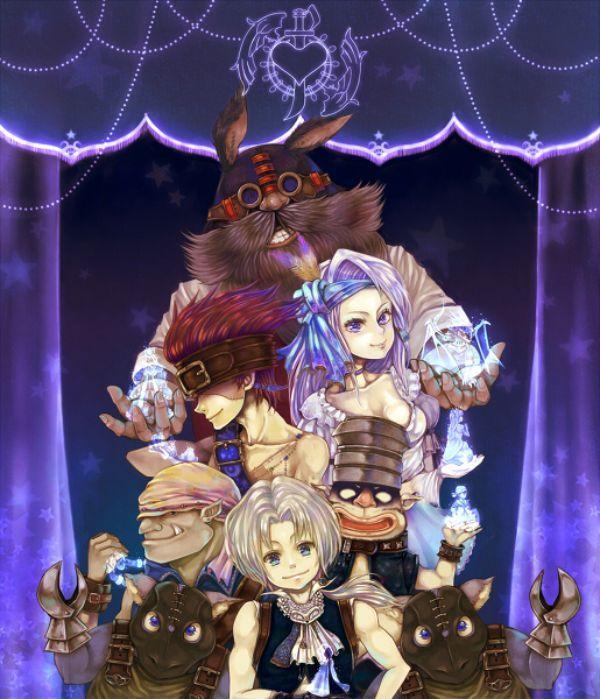 Final Fantasy IX - Baku, Blank, Marcus, Ruby, Zidane Tribal