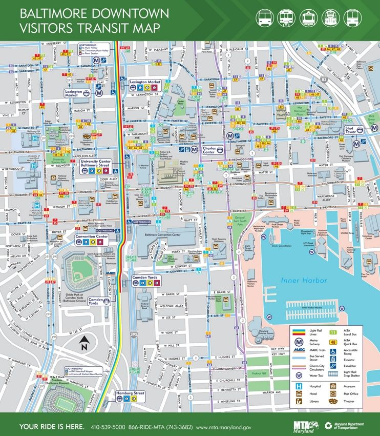 Baltimore Downtown Map Maps Pinterest Usa Cities And City