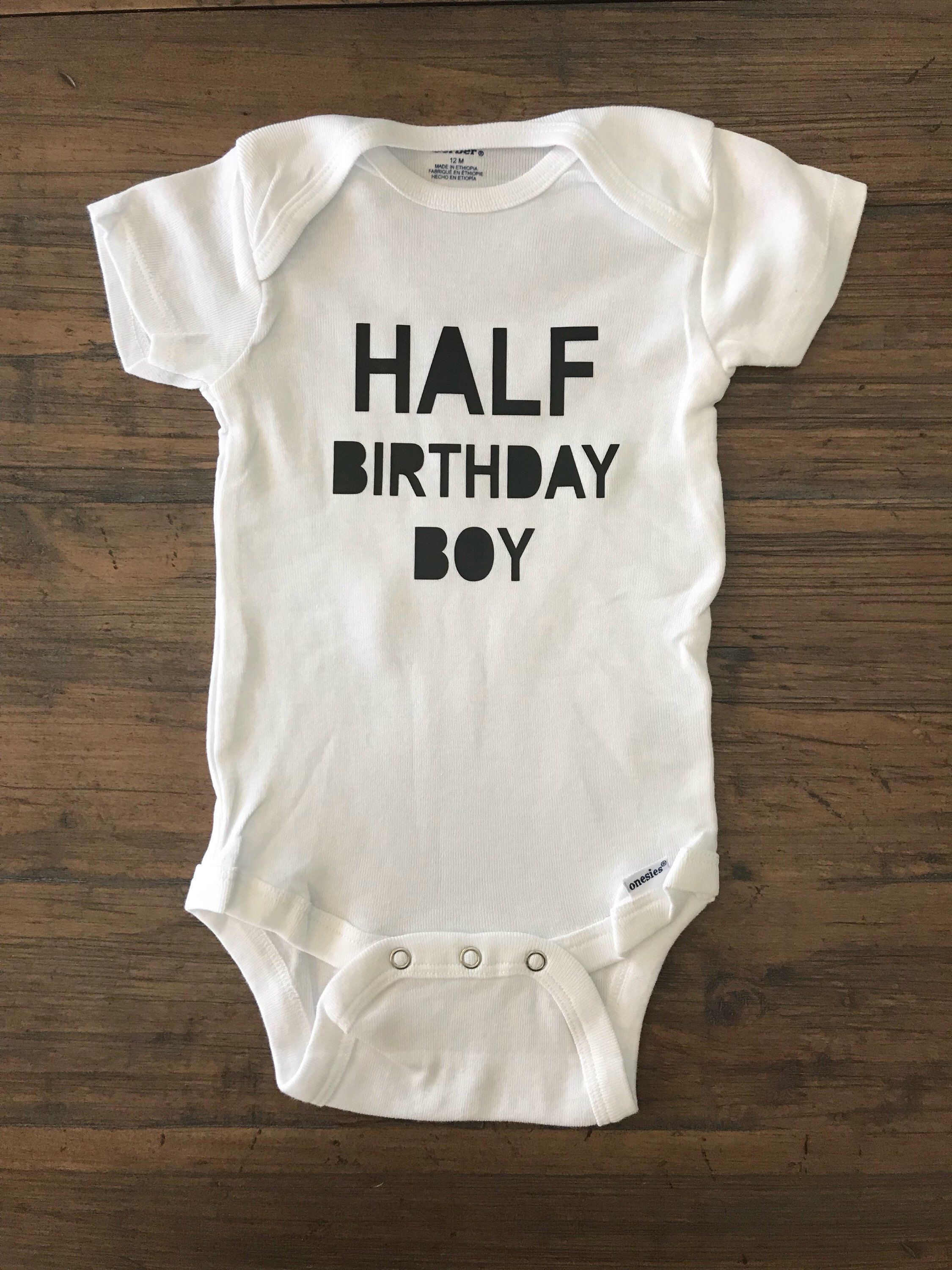 Excited To Share The Latest Addition My Etsy Shop Half Birthday Boy O Girl Shirt 1 2 Custom Onesie