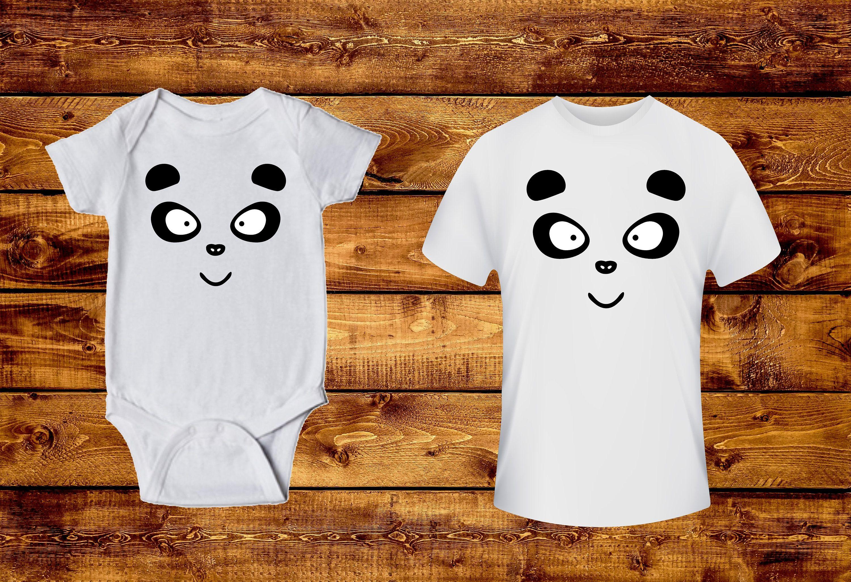 Panda infant bodysuit toddler shirt baby one piece Happy panda