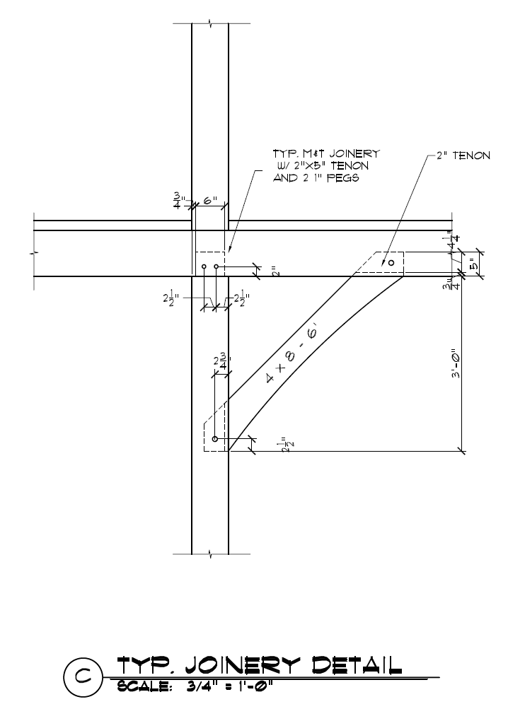 Timber Frame Knee Brace Joinery | Construction Details for Timber ...