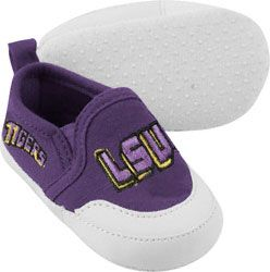 LSU Tigers Purple Baby Prewalk Shoe http://www.fansedge.com/LSU-Tigers-Purple-Baby-Prewalk-Shoe-_-1143562244_PD.html?social=pinterest_pfid27-16089