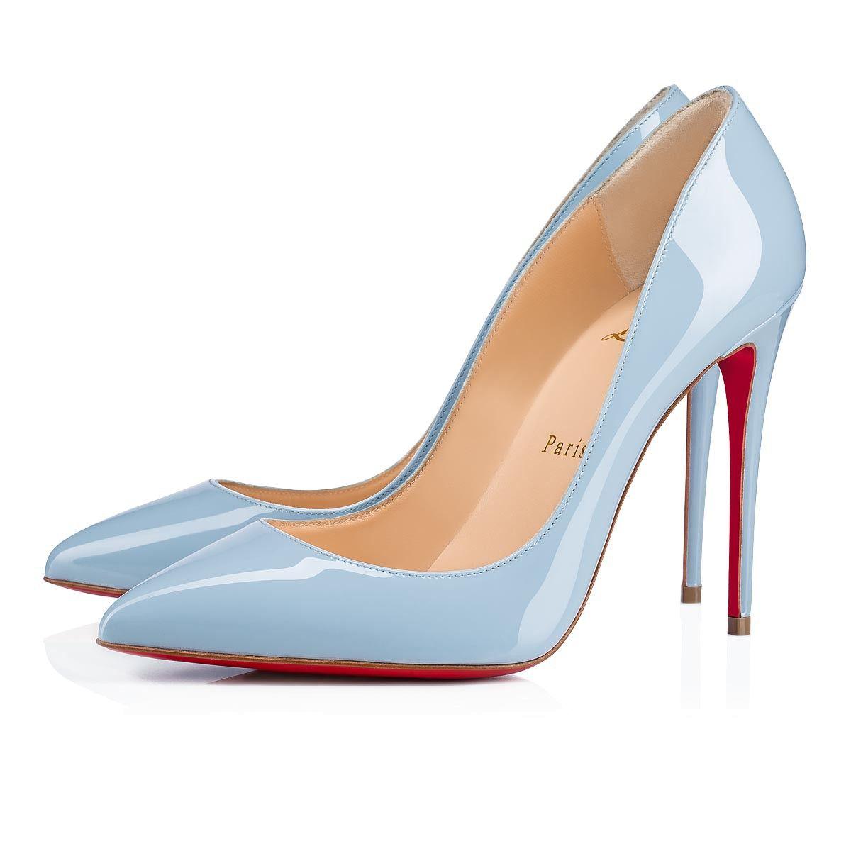 d409e8588503 Pigalle Follies 100 Sky Patent Leather - Women Shoes - Christian Louboutin