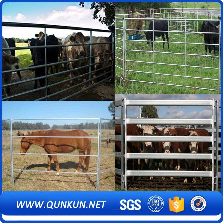 cheap wrought iron used horse fence panels/galvanized cattle fence ...