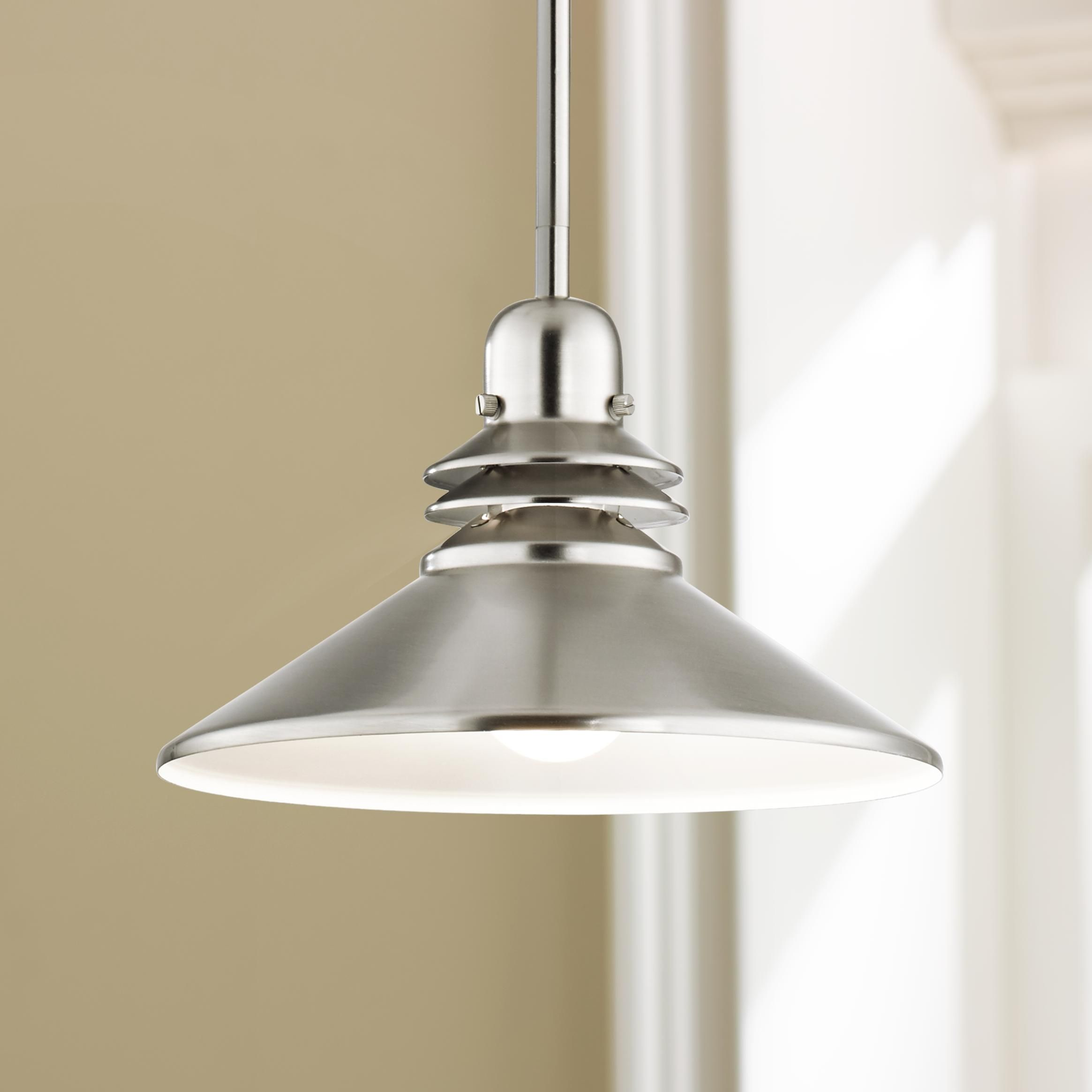 Brushed Nickel Pendant Lighting Kitchen Brushed Nickel Mini Pendant Chandelier By Kichler Minis