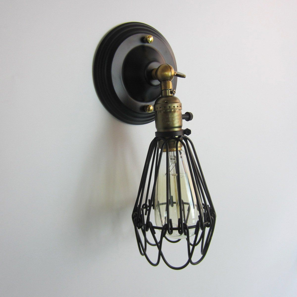 E26e27 industrial vintage style iron birdcage lampshade wire cage e26e27 industrial vintage style iron birdcage lampshade wire cage lamp hanging rustic metal shade wall lamp fixture bronze black add bronze click on greentooth Image collections