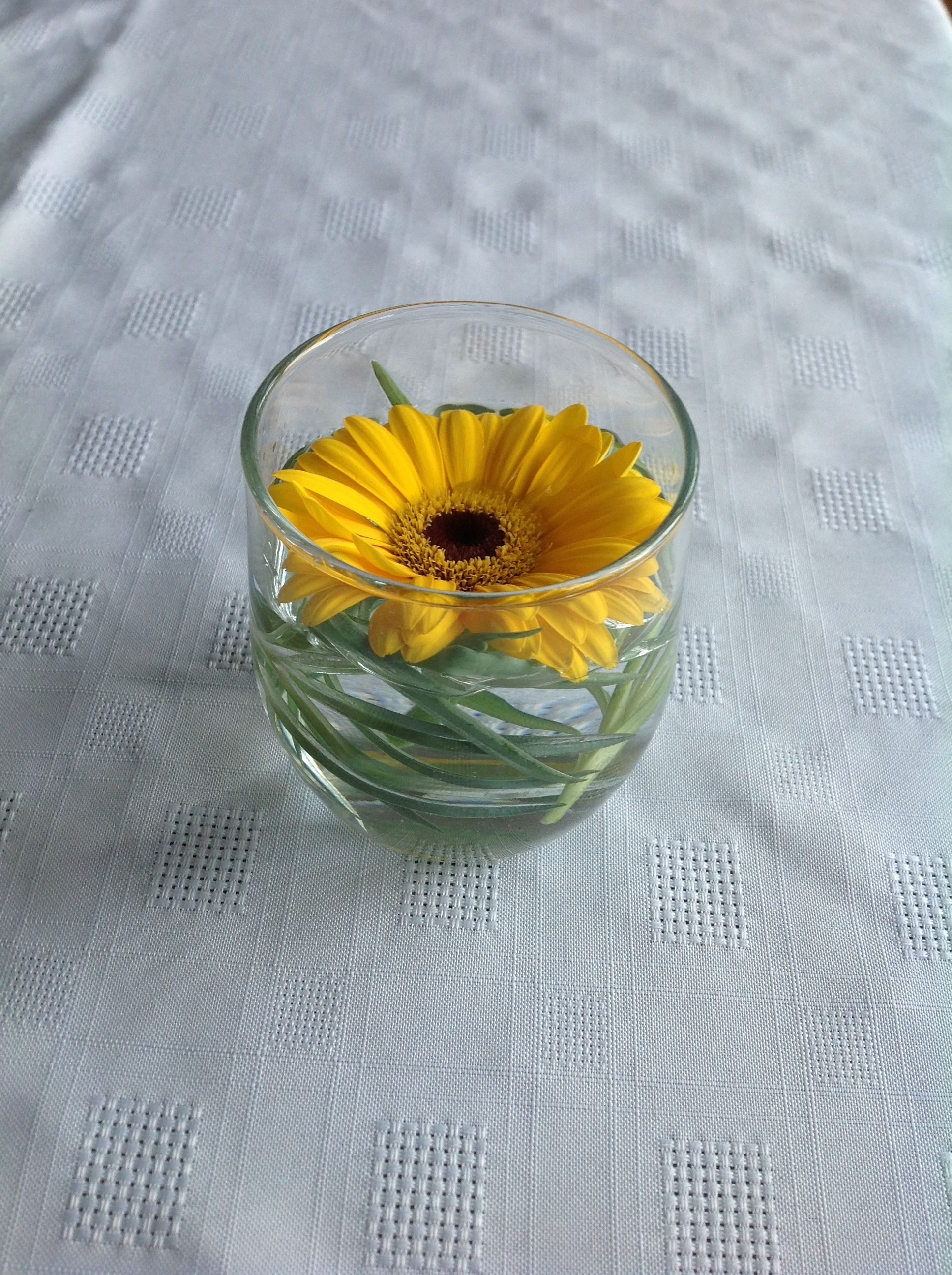 Cheap glass tumbler with fronds of greenery and a single flower an cheap glass tumbler with fronds of greenery and a single flower an effective table decoration izmirmasajfo