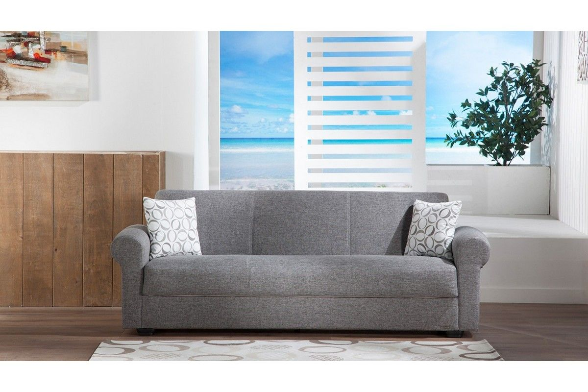 Elita Diego Gray Sofa Bed With Storage | Marjen Of Chicago | Chicago  Discount Furniture