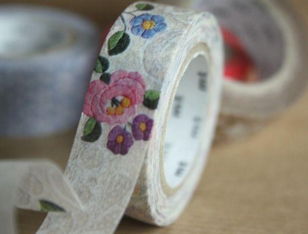 Masking Tape - mt ex Washi Tape / Masking Tape Lace Flower - ein Designerstück von krealiebst bei DaWanda