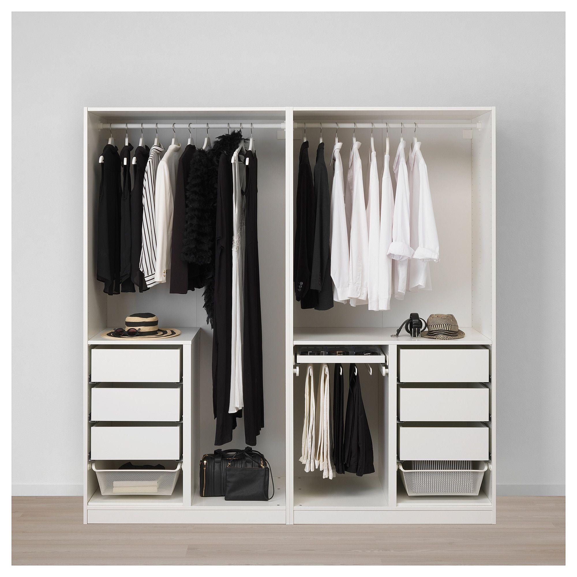 Planner Pax Guardaroba.Ikea Pax Wardrobe White Hamnas Black Blue Products In