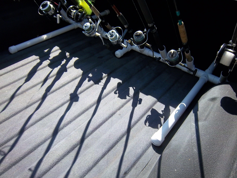 Truck bed fishing rod transport rack holder 40 the for Fishing rod rack for truck