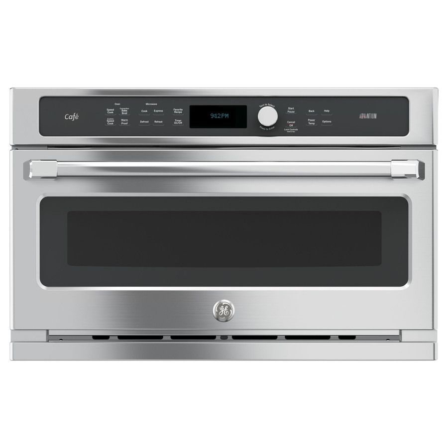 Ge Cafe Advantium 1 7 Cu Ft Built In Convection Microwave With