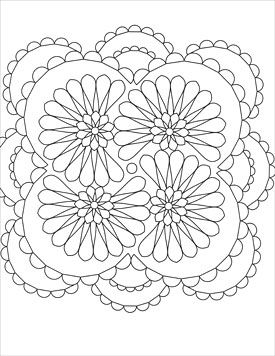 Swirling Designs Coloring Book ArtistsClub