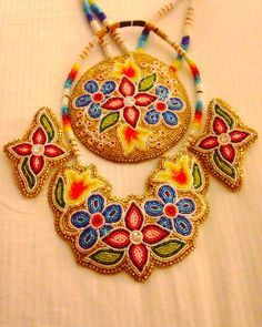 paskemin beadwork where does she get here inlays - Google Search