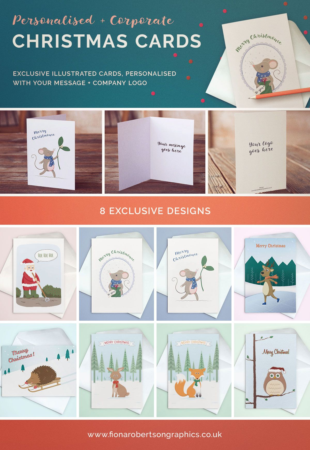 Personalised & Corporate Christmas Cards | Business christmas cards ...