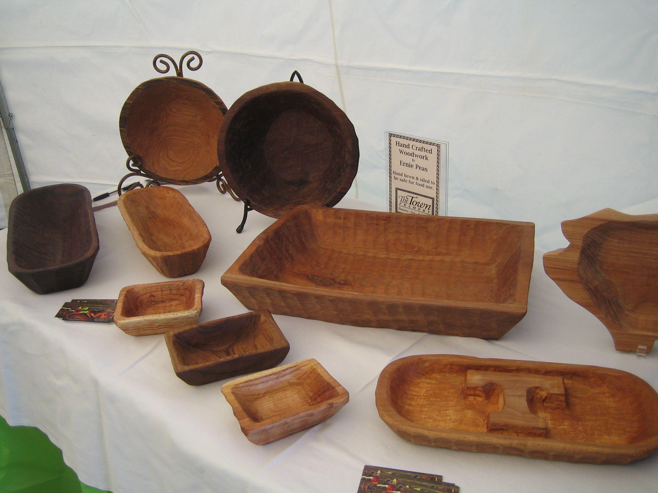 Ernie peas handcrafted wood work hand hewn oiled