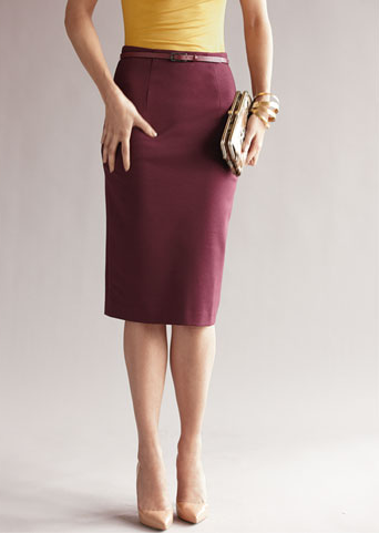 This wine colored pencil skirt is the perfect alternative to a ...