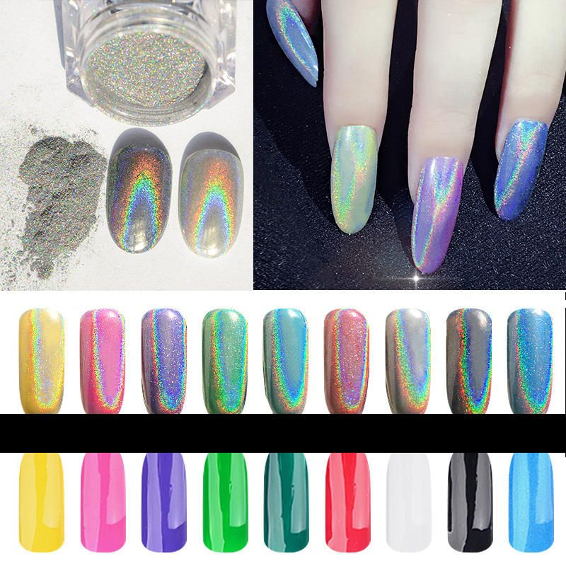Chrome Metallic Mirror Effect Glitter Magic Shiny Nail Art Powder