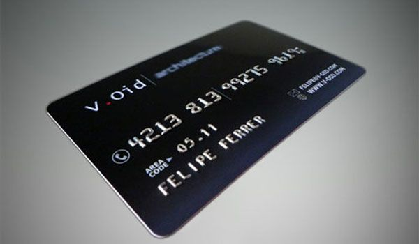 Cool Looking Business Card That Looks Like A Credit Card How About