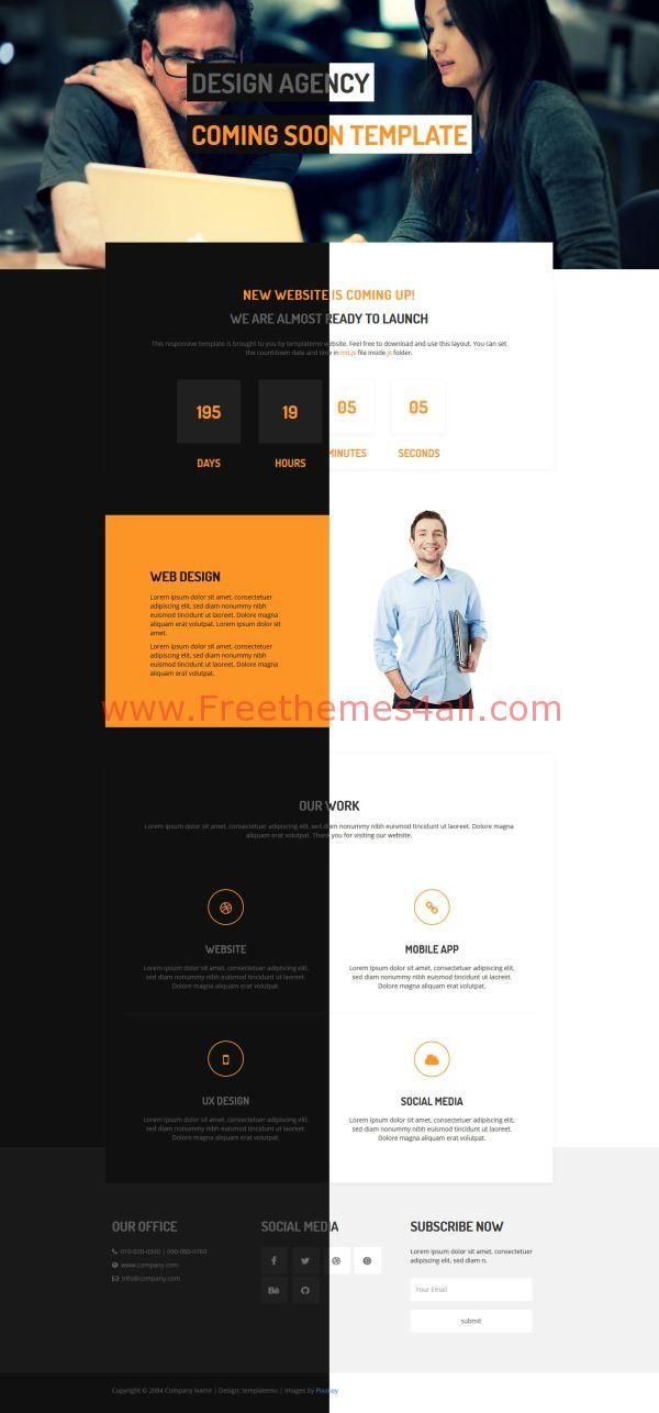 100 Free and Premium Website Templates with HTML5 Templates - it company profile template