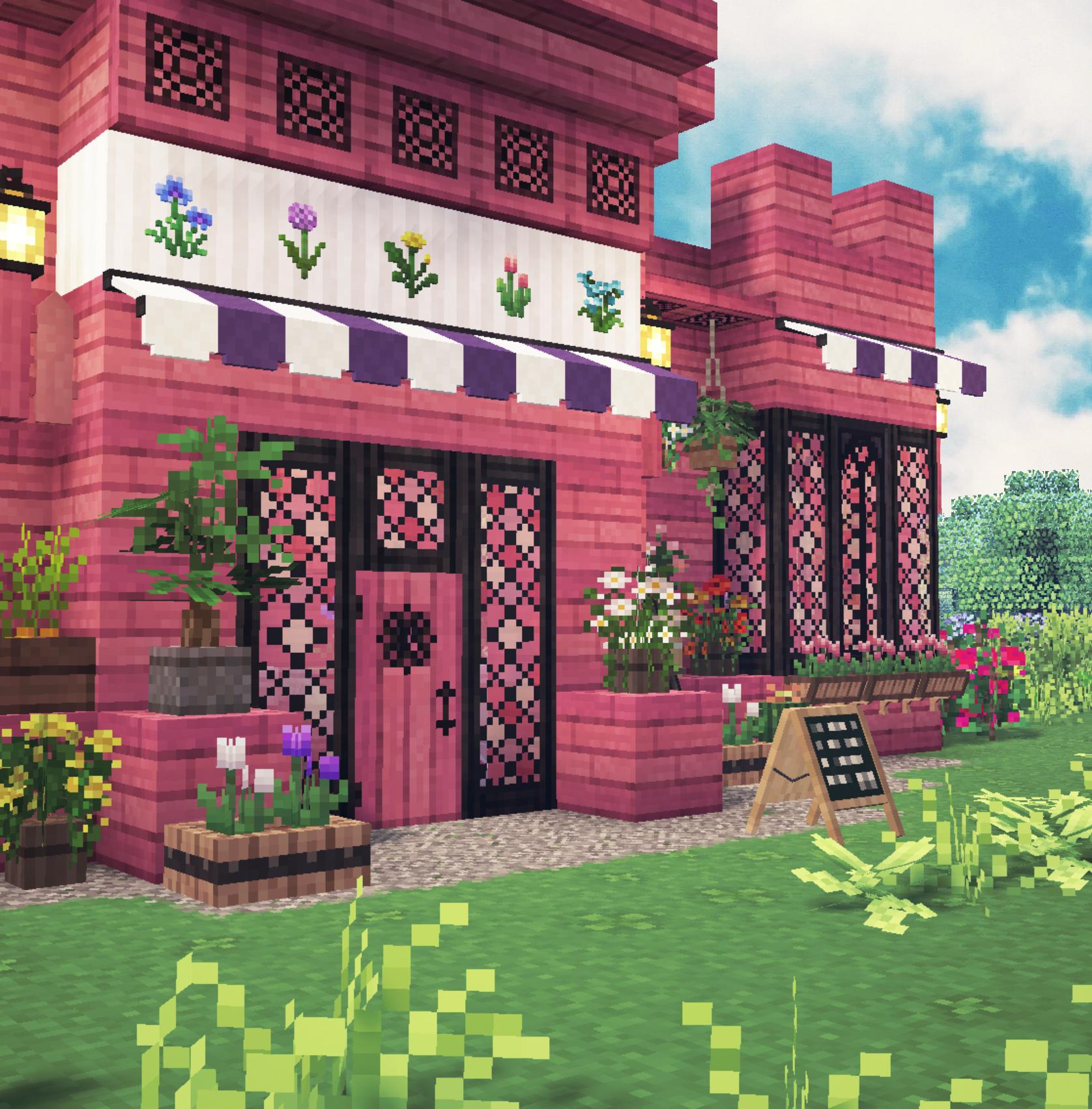 Aesthetic Minecraft Flower Shop 🌸🌿✨ Fairytale Cottagecore 🌷 by Kelpie The Fox