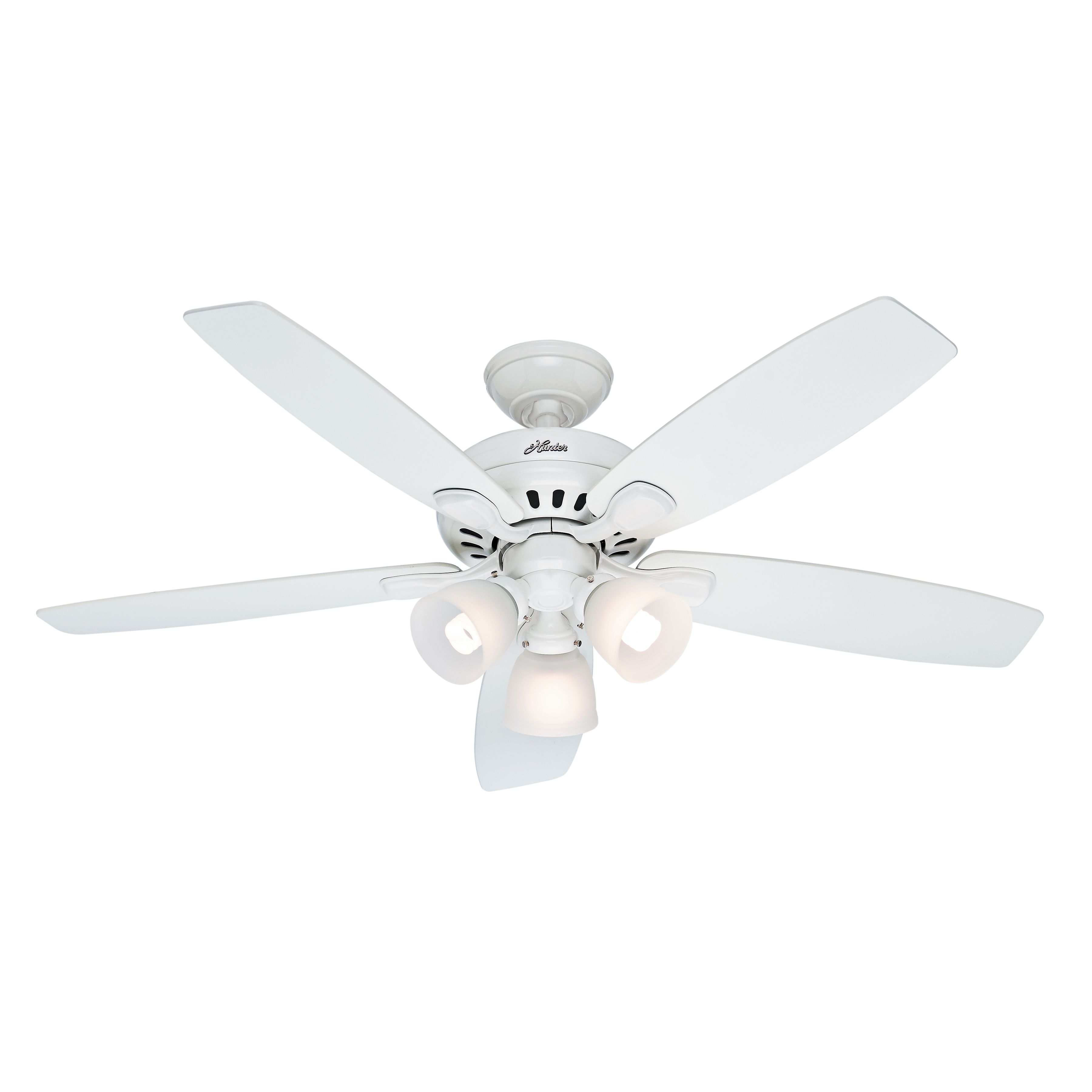 Hunter 52 Inch White Finish Ceiling Fan With Swirled Marble Glass Light Kit Remote Control Included Hunter Ceiling Fan 52 Ceiling Fan Bronze Ceiling Fan