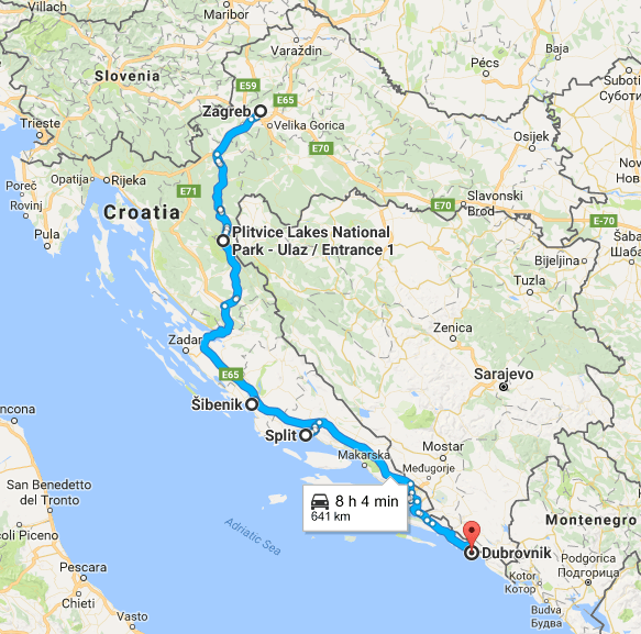 Croatia Road Trip Itinerary Map Road Trip Itinerary Trip Croatia Itinerary