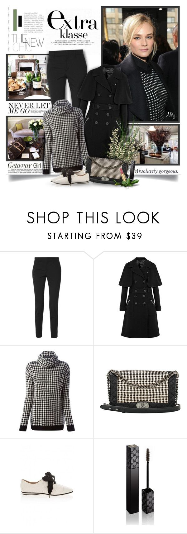 """The New Chic"" by thewondersoffashion ❤ liked on Polyvore featuring xO Design, Gucci, Miu Miu, Ralph Lauren Black Label, Chanel and Emporio Armani"